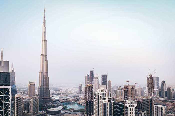 Dubai Skyline und Burj Khalifa