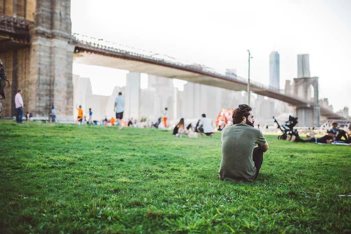 Reisetipps New York - Park mit Blick auf Brücke