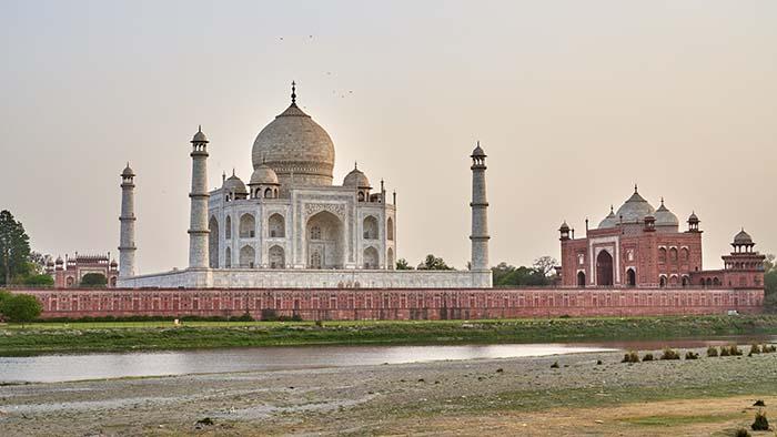 Taj Mahal bei Sonnenuntergang