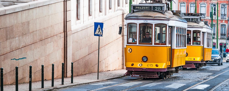 Straßenbahn-Linie 28 in Lissabon