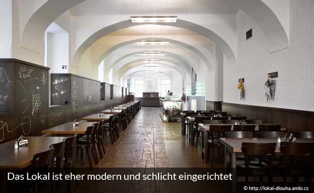 Lokal in Prag - eine moderne Bierstube