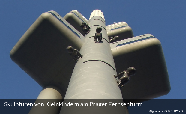 Der Prager Fernsehturm in Žižkov