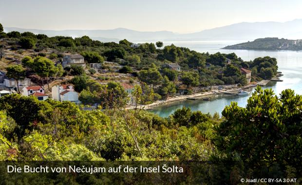 Versteckte Bucht auf der Insel Šolta