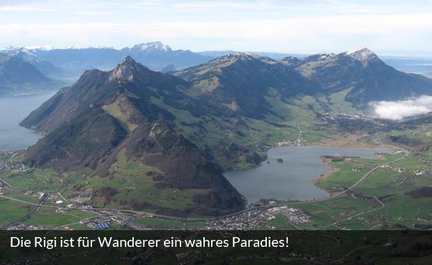 Blick auf die Rigi in der Schweiz