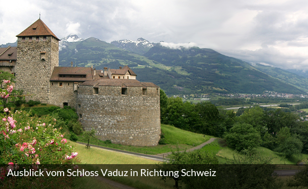 Ausblick vom Schloss Vaduz