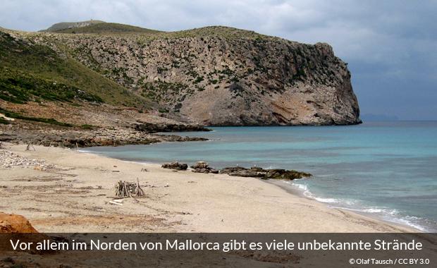 Unberührter Strand auf Mallorca