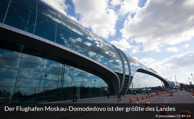 Flughafen Domodedowo in Moskau