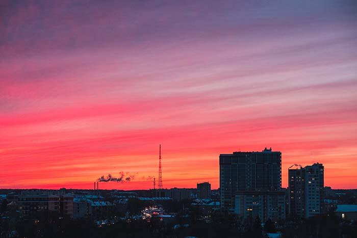 Sonnenuntergang in Russland