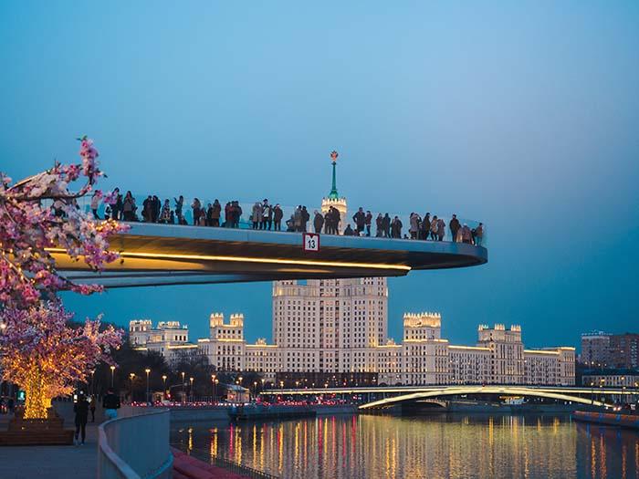 Aussichtsplattform in Moskau
