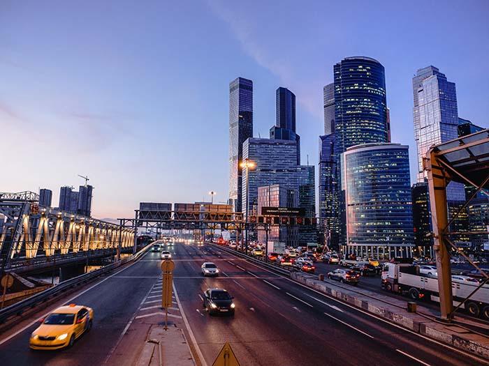 Strasse in Moskau