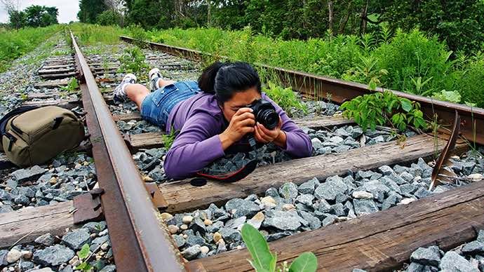 Urlaubsfotos werden durch interessante Perspektiven besser