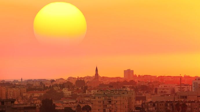Sonnenuntergang Tel Aviv