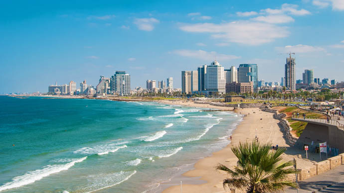 Sandstrand von Tel Aviv