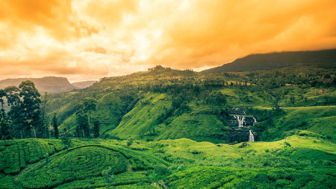 Landschaft in Sri Lanka