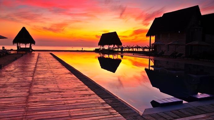 Luxus-Hotel auf Sri Lanka