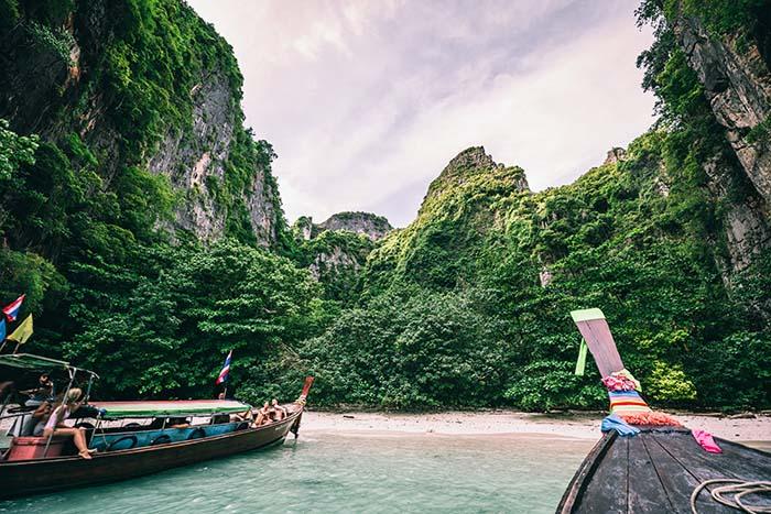 beliebtes billiges Reiseziel Thailand
