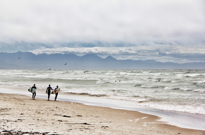 Surfing in Südafrika