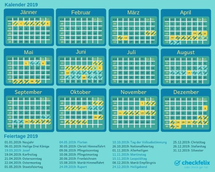 Fenstertage Kalender 2019
